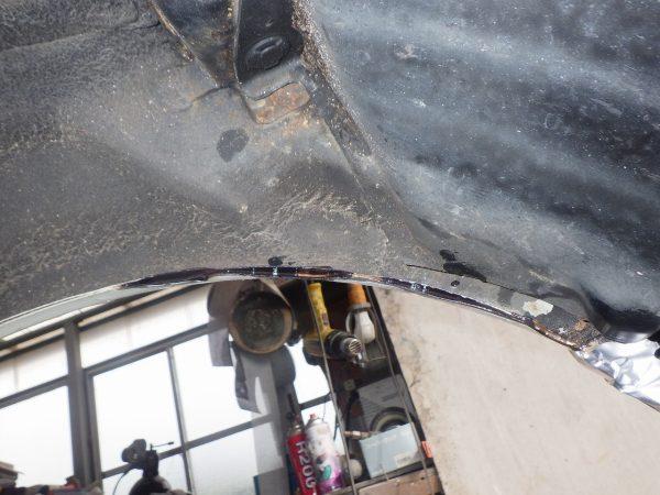 日産 エルグランド リヤフェンダー 錆 腐食 この時の年式車 どれもなる 新潟市 南区