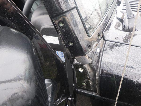 ジープ ラングラー 雨漏れ オープン 外車 新潟市 南区