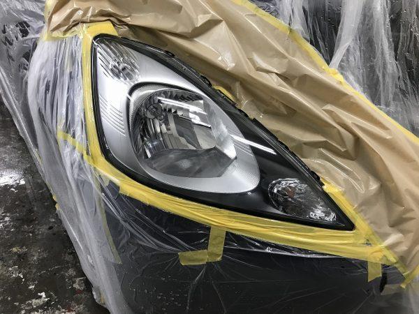 ヘッドランプ クスミ くすむ 白ボケ 暗い 見た目悪い 劣化 黄ばみ コーティング 復活 透明 新潟市 南区