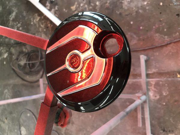 アメリカ ハーレー バイク 社外品 パーツ タンク キャップ フューエルリッド 塗装 カスタム 新潟市 南区