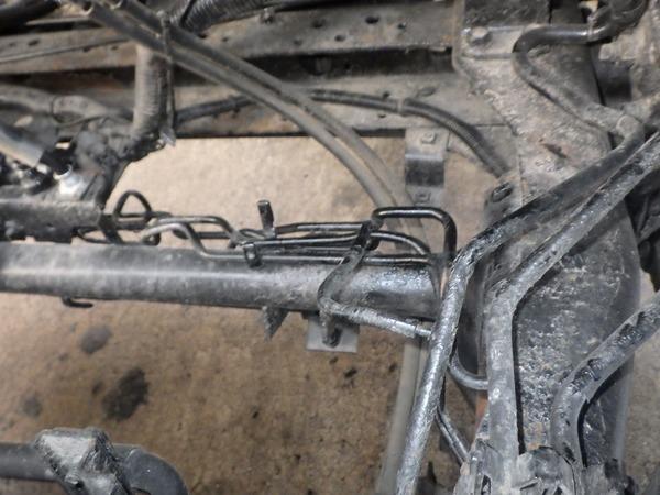 三菱 キャンター ブレーキパイプ 腐食 破れ 効かない 危険 作成 加工