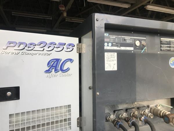 トラック 工業 機械 エアコンプレッサー オイル交換 エアマン PDS265S 自動車 新潟市 南区